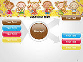Frame with Cartoon Children Toys and Candy PowerPoint Template#14