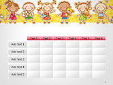 Frame with Cartoon Children Toys and Candy PowerPoint Template#15