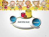 Frame with Cartoon Children Toys and Candy PowerPoint Template#16