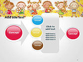 Frame with Cartoon Children Toys and Candy PowerPoint Template#17