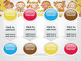 Frame with Cartoon Children Toys and Candy PowerPoint Template#18