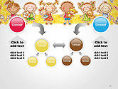 Frame with Cartoon Children Toys and Candy PowerPoint Template#19