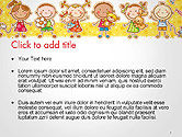 Frame with Cartoon Children Toys and Candy PowerPoint Template#2