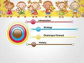 Frame with Cartoon Children Toys and Candy PowerPoint Template#3