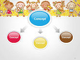 Frame with Cartoon Children Toys and Candy PowerPoint Template#4