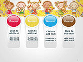 Frame with Cartoon Children Toys and Candy PowerPoint Template#5