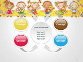 Frame with Cartoon Children Toys and Candy PowerPoint Template#6