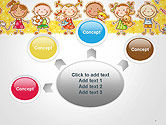 Frame with Cartoon Children Toys and Candy PowerPoint Template#7