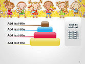 Frame with Cartoon Children Toys and Candy PowerPoint Template#8