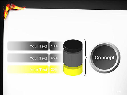 Burning Piece of Paper PowerPoint Template Slide 11