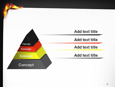 Burning Piece of Paper PowerPoint Template Slide 12