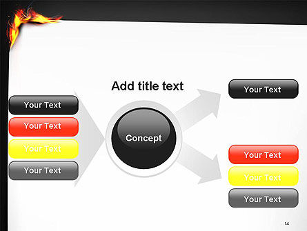 Burning Piece of Paper PowerPoint Template Slide 14