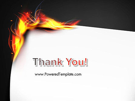 Burning Piece of Paper PowerPoint Template Slide 20