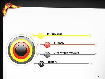 Burning Piece of Paper PowerPoint Template Slide 3