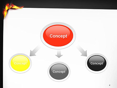 Burning Piece of Paper PowerPoint Template, Slide 4, 14471, Abstract/Textures — PoweredTemplate.com