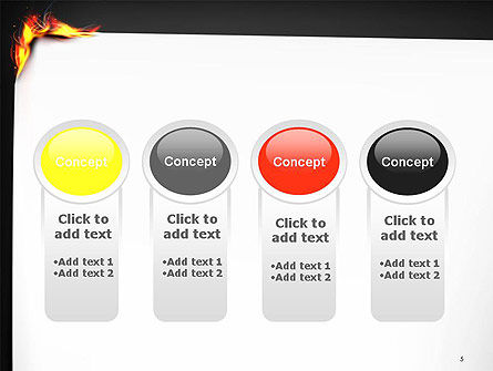 Burning Piece of Paper PowerPoint Template Slide 5