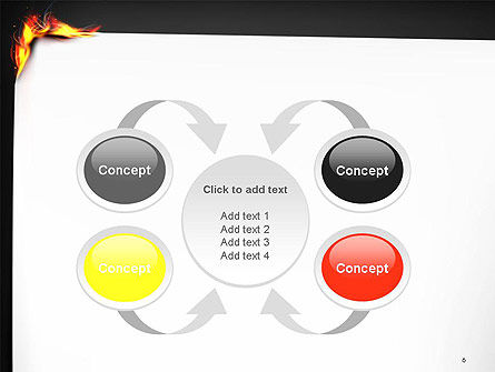 Burning Piece of Paper PowerPoint Template Slide 6