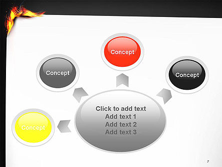 Burning Piece of Paper PowerPoint Template Slide 7