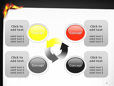 Burning Piece of Paper PowerPoint Template Slide 9