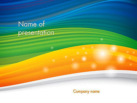 Abstract/Textures: Rainbow Waves Abstract Background PowerPoint Template #14472