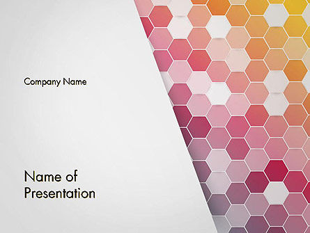 Abstract Hexagonal Mosaic PowerPoint Template