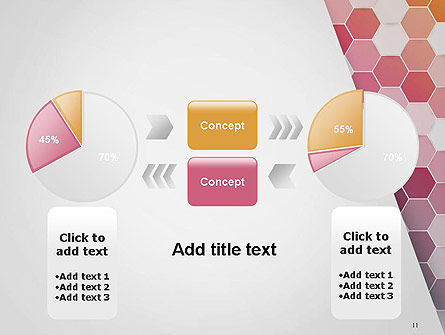 Abstract Hexagonal Mosaic PowerPoint Template Slide 11