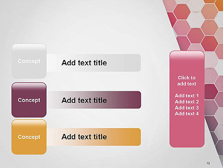Abstract Hexagonal Mosaic PowerPoint Template Slide 12
