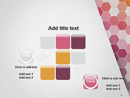 Abstract Hexagonal Mosaic PowerPoint Template Slide 16