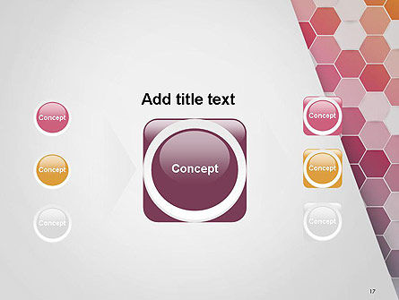 Abstract Hexagonal Mosaic PowerPoint Template Slide 17