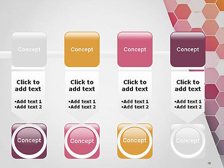 Abstract Hexagonal Mosaic PowerPoint Template Slide 18