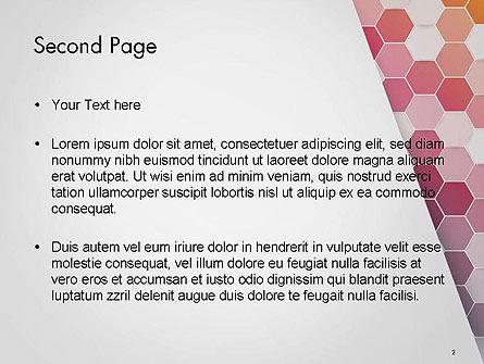 Abstract Hexagonal Mosaic PowerPoint Template, Slide 2, 14474, Abstract/Textures — PoweredTemplate.com
