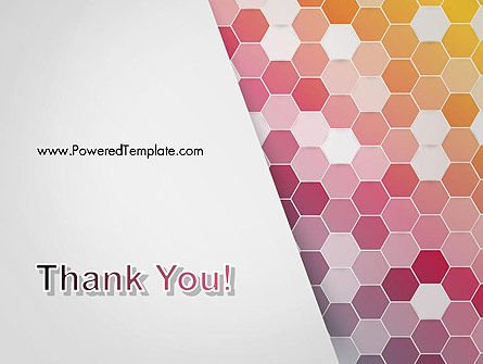 Abstract Hexagonal Mosaic PowerPoint Template Slide 20
