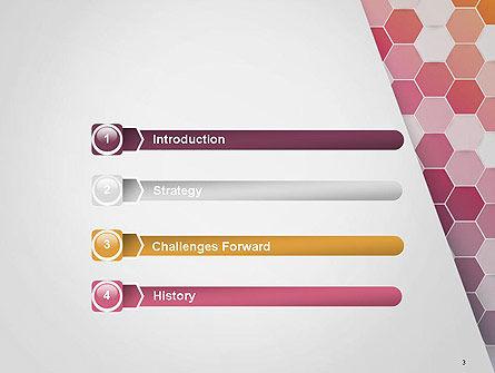 Abstract Hexagonal Mosaic PowerPoint Template, Slide 3, 14474, Abstract/Textures — PoweredTemplate.com