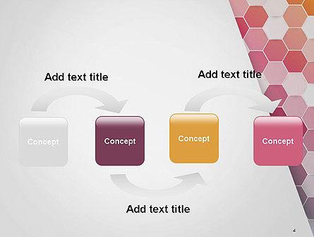 Abstract Hexagonal Mosaic PowerPoint Template, Slide 4, 14474, Abstract/Textures — PoweredTemplate.com