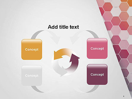 Abstract Hexagonal Mosaic PowerPoint Template Slide 6
