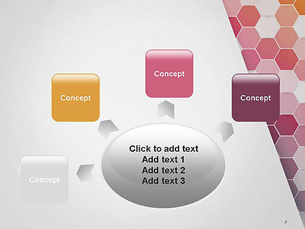 Abstract Hexagonal Mosaic PowerPoint Template Slide 7