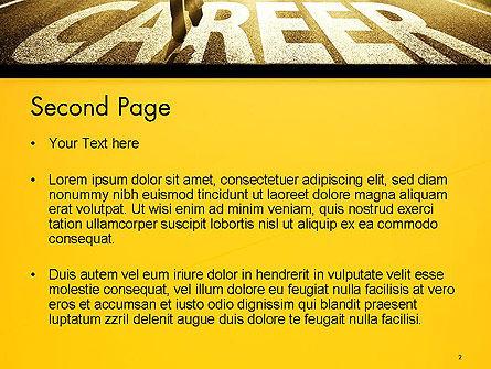 Businessman Walking on Great Career Path PowerPoint Template Slide 2