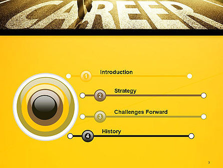 Businessman Walking on Great Career Path PowerPoint Template Slide 3