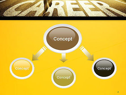 Businessman Walking on Great Career Path PowerPoint Template Slide 4