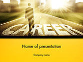 Careers/Industry: Businessman Walking on Great Career Path PowerPoint Template #14475