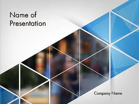 Business: Abstract Driehoekig Geometrisch Ontwerp PowerPoint Template #14476