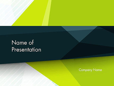 Green Geometrical Shapes Abstract PowerPoint Template, 14477, Abstract/Textures — PoweredTemplate.com
