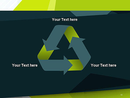 Green Geometrical Shapes Abstract PowerPoint Template Slide 10