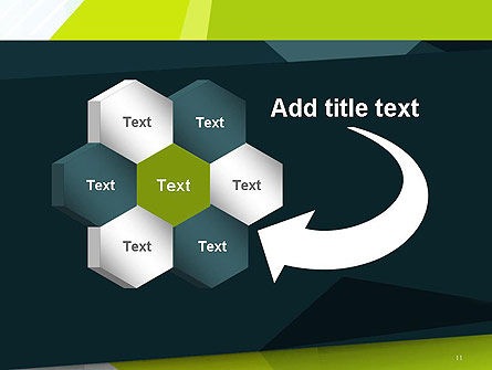 Green Geometrical Shapes Abstract PowerPoint Template Slide 11