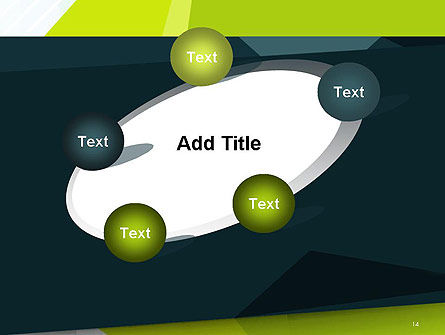 Green Geometrical Shapes Abstract PowerPoint Template Slide 14