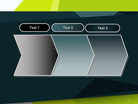 Green Geometrical Shapes Abstract PowerPoint Template Slide 16