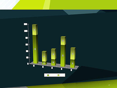 Green Geometrical Shapes Abstract PowerPoint Template Slide 17