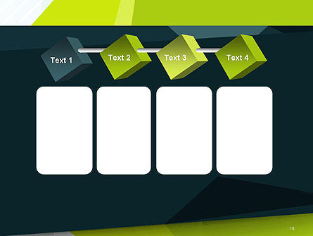 Green Geometrical Shapes Abstract PowerPoint Template Slide 18