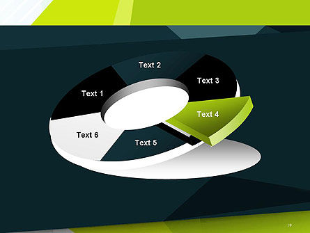 Green Geometrical Shapes Abstract PowerPoint Template Slide 19