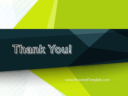 Green Geometrical Shapes Abstract PowerPoint Template Slide 20